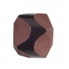 "Resin Bead Fancy Facet.18x12mm 8""Str (approx.13pcs.) Brown/Black"